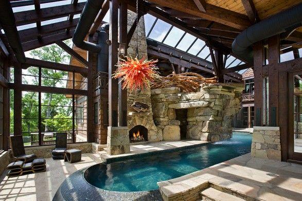 my future mountain home  pool