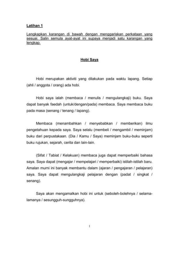 Karangan Tahun 3 Elementary Learning Malay Language Language