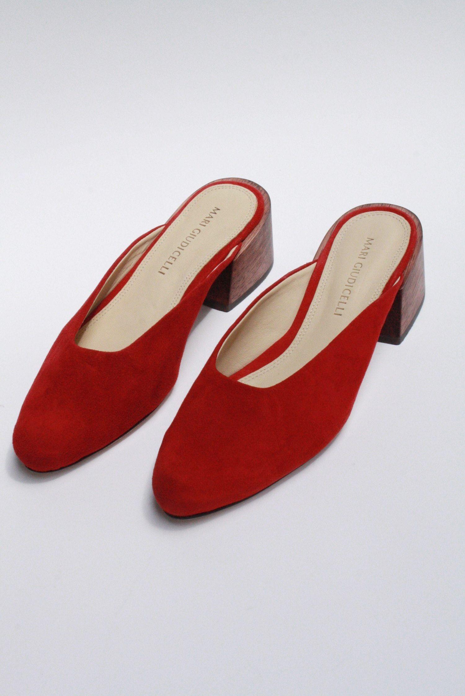 big sale cheap online Red 'Lisa' mule slippers sale good selling cheap discounts hot sale online gGa35Jq8r