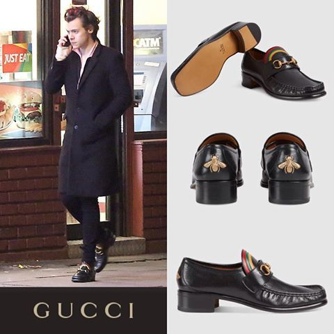Gucci Rainbow Horsebit Leather Loafers  Harry Styles