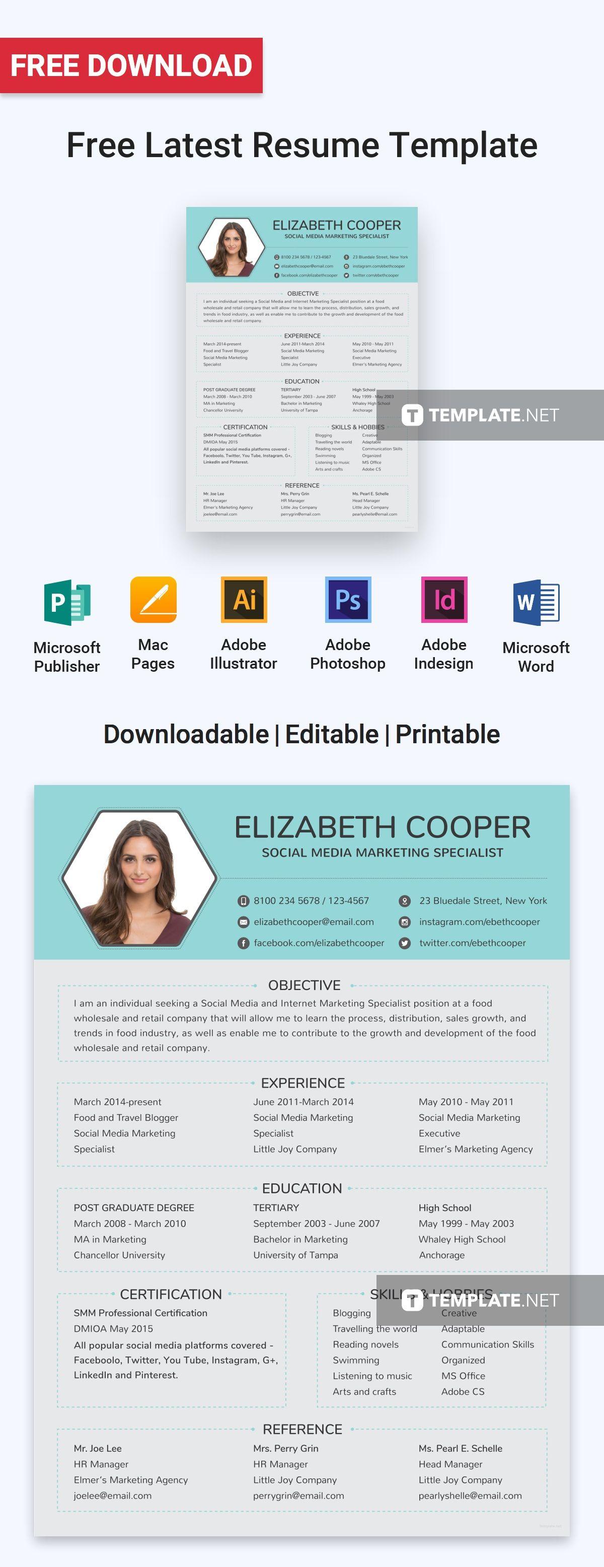 free social media specialist resume
