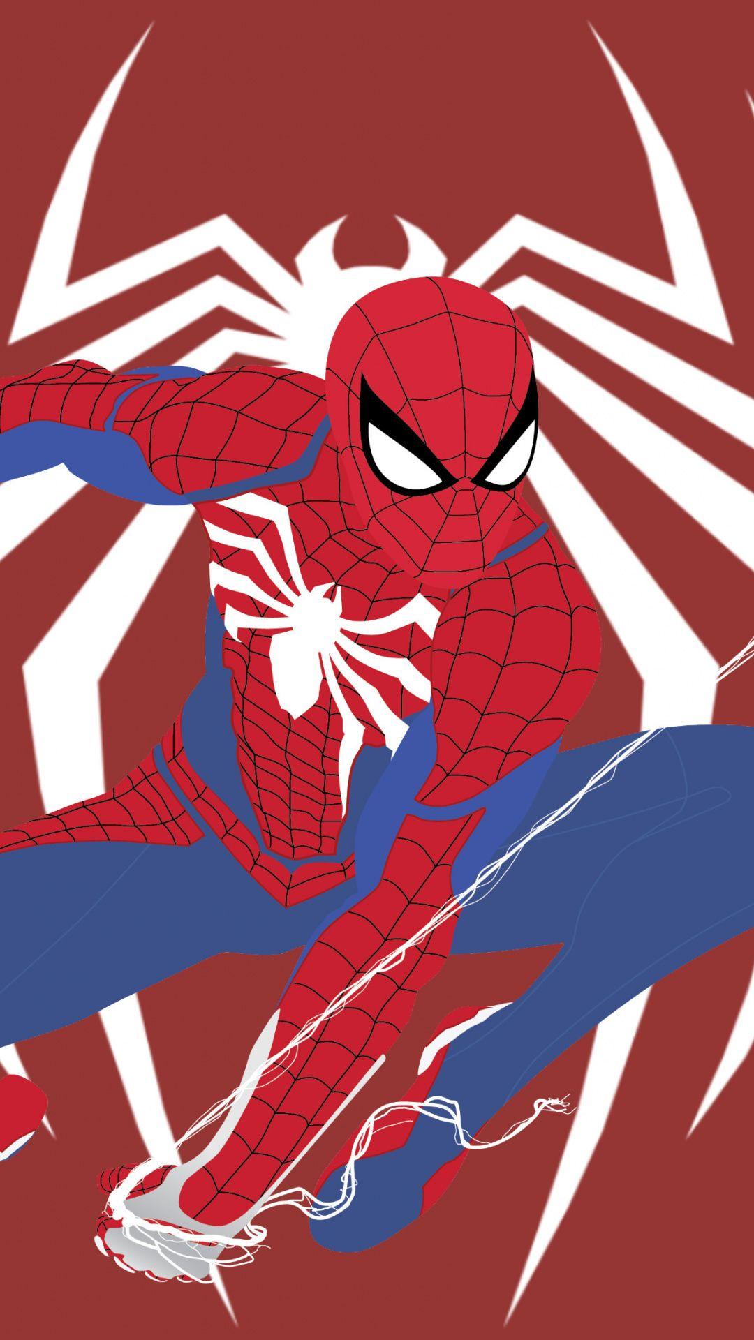 Spiderman PS4, video game, artwork, 1080x1920 wallpaper