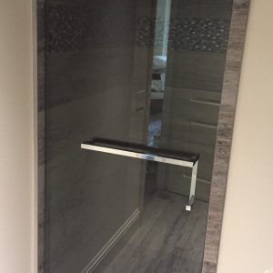 Frameless Glass Shower Door Towel Rack With Images Frameless