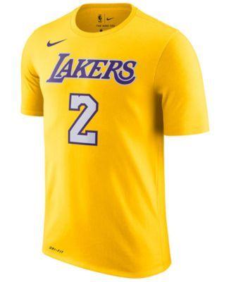 Nike Men S Lonzo Ball Los Angeles Lakers Name Number Player T Shirt Yellow Xxl Nba T Shirts Nike Dri Fit Nike Men