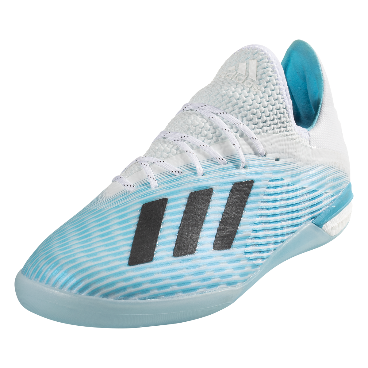 adidas X 19.1 IN Indoor Soccer Shoe CyanBlackPink 10.5