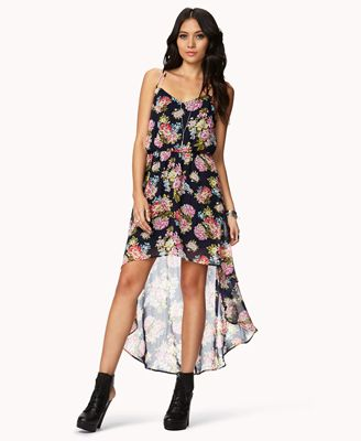 Floral High-Low Dress | FOREVER 21 - 2034628154