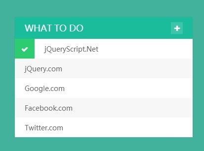 An animated and flat designed to-do list app built on top of jQuery - best of blueprint css menu