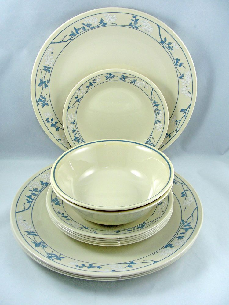 Corning Corelle FIRST SPRING 4 Dinner Plates 6 Bread Plates 1 Cereal Bowl USA #Corelle & Corning Corelle FIRST SPRING 4 Dinner Plates 6 Bread Plates 1 ...