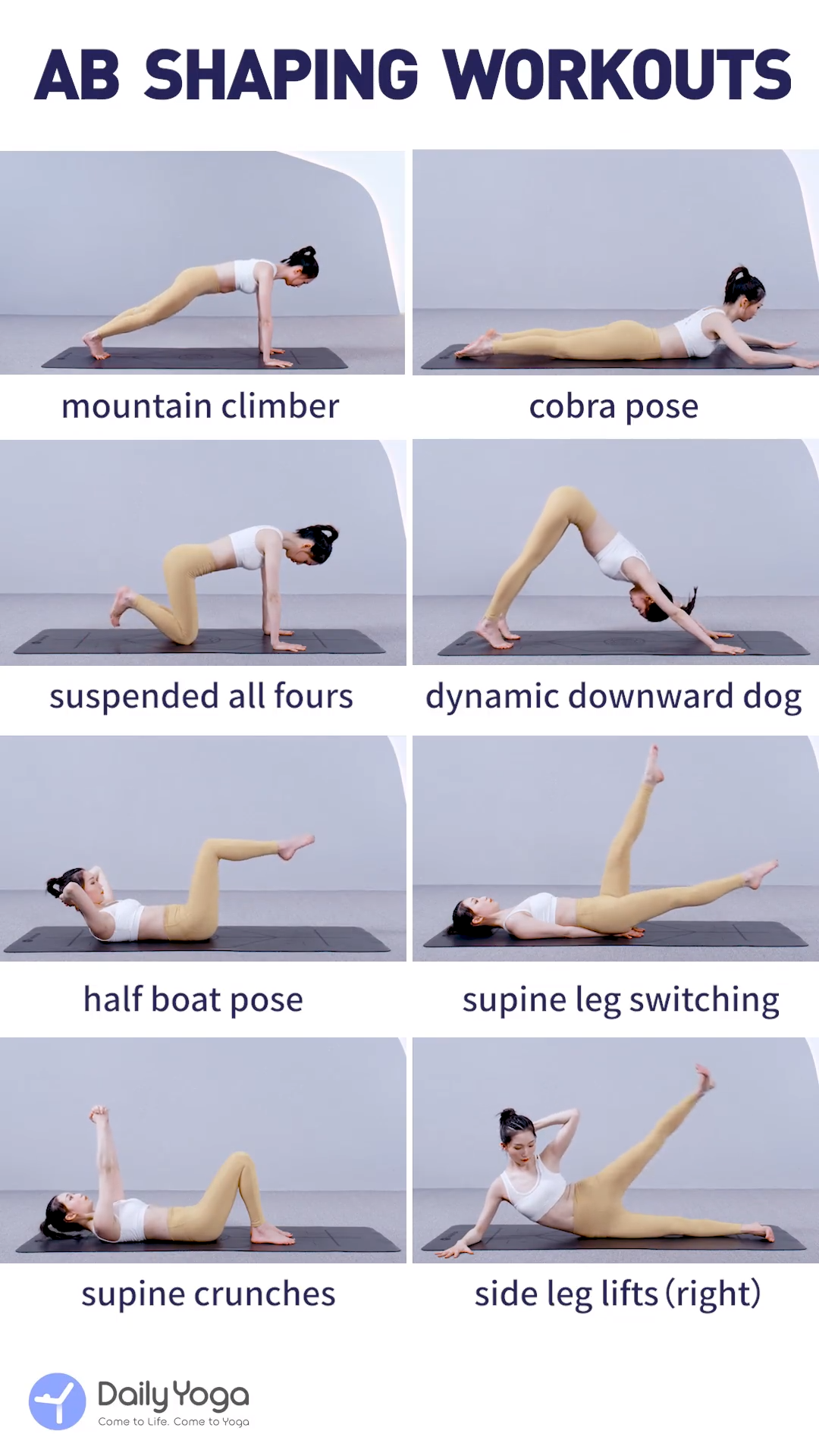 DailyYogaApp| AB Shaping Workouts -  Fire up your core, build strength, and firm abs with these yoga...