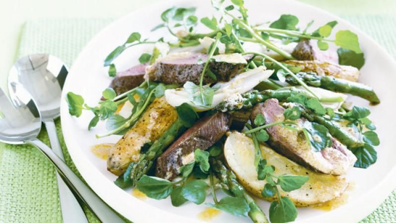 Lamb and potato salad