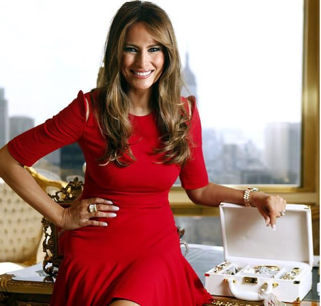 Melania Trump In Her Fifth Ave Home Is Expanding The Familys Entrepreneurial Domain A Qvc Campaign For Her Line Of Timepieces And Jewel