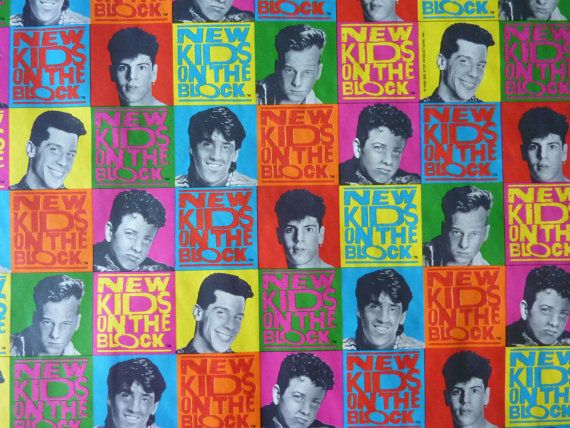 Vintage New Kids on the Block Roll of Wrapping Paper (1990) - 60 X 30 inches - Collectible Memorabilia
