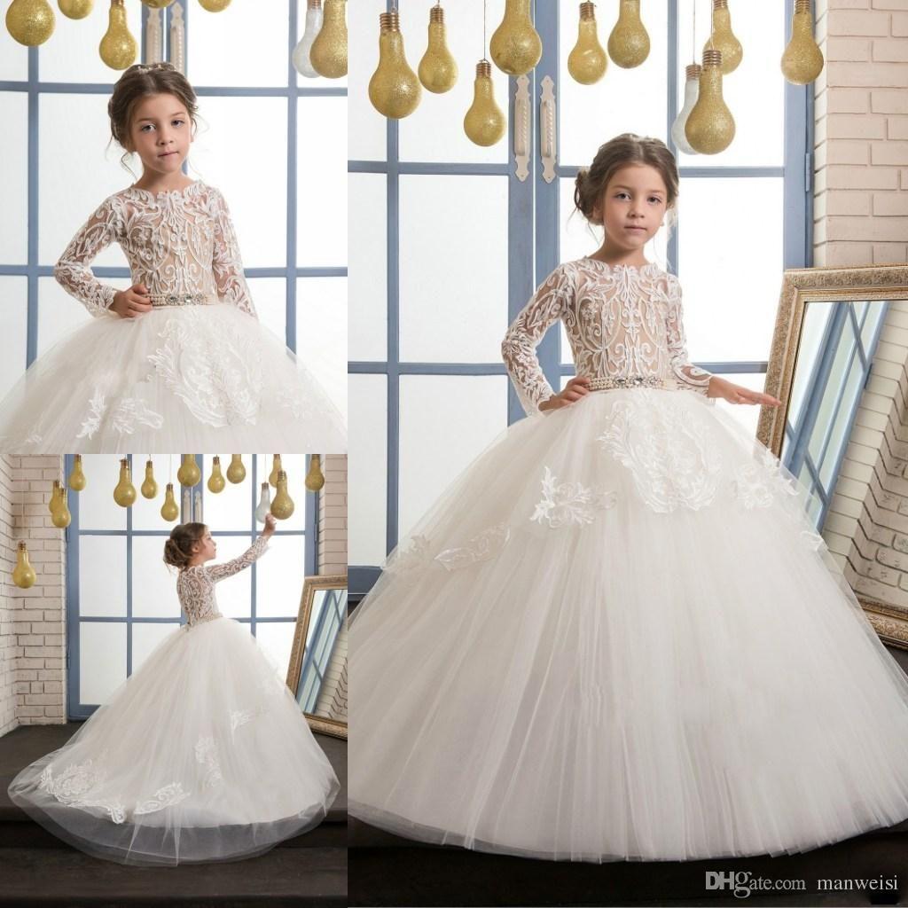 Cuteballgownflowergirlsdressesforweddings niñas pinterest