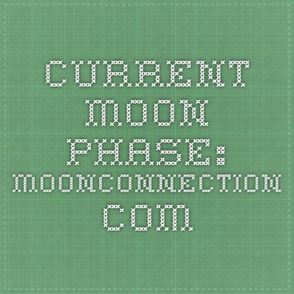 Current Moon Phase: moonconnection.com