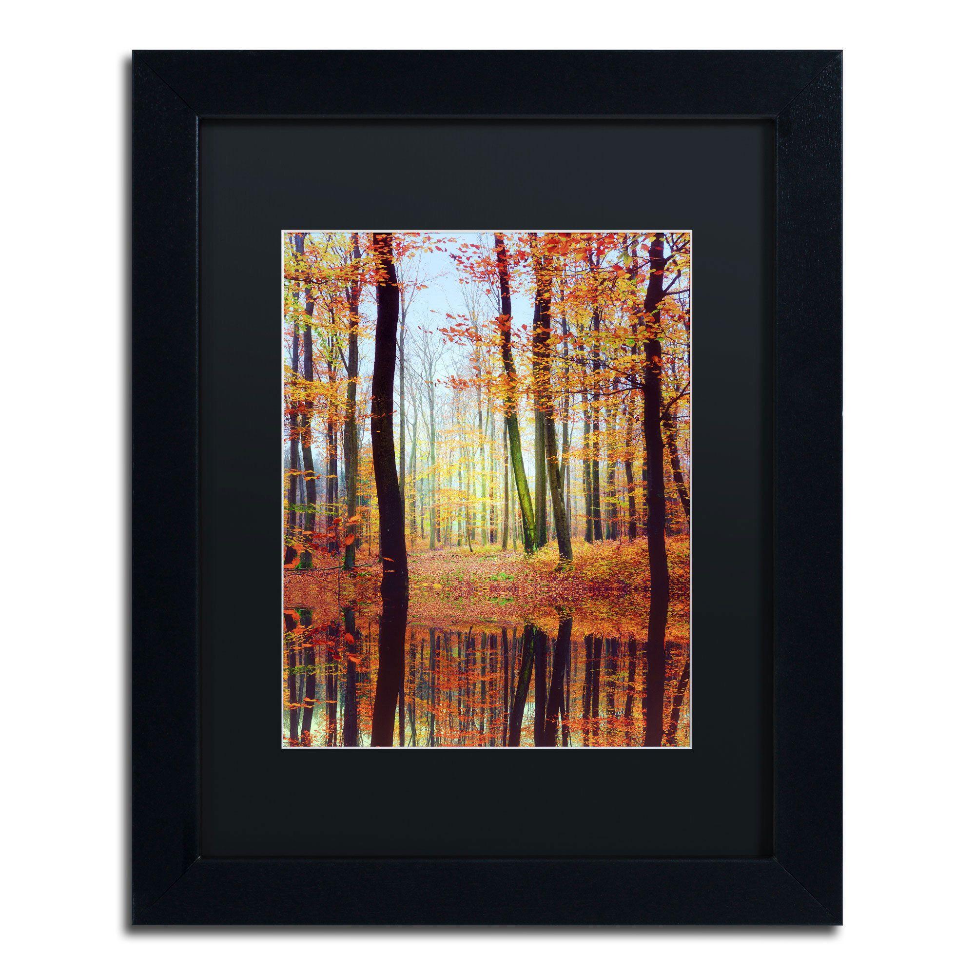 Philippe saintelaudy ufall mirroru framed matted art x brown