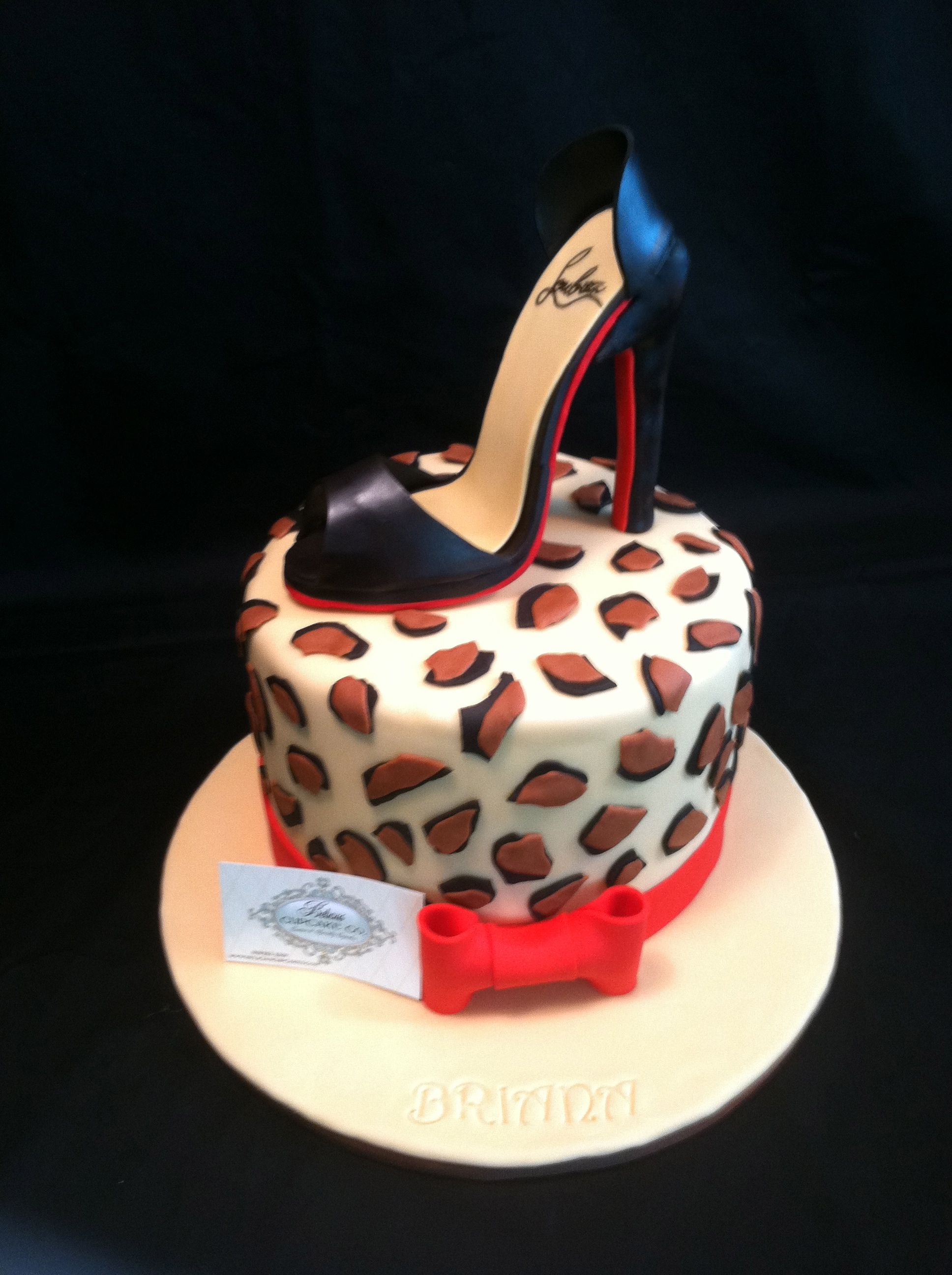 100 Edible Fondant Quot Red Bottom Shoe Quot Inspired By