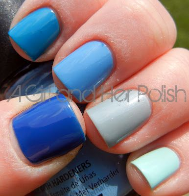 A Girl and Her Polish: LDS Challenge: Day 2 - Summer Ombre