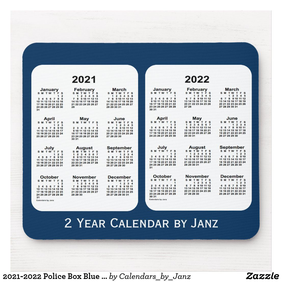 20212022 Police Box Blue 2 Year Calendar by Janz Mouse