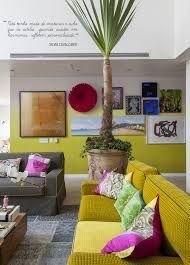 decoração com sofá amarelo - Pesquisa Google