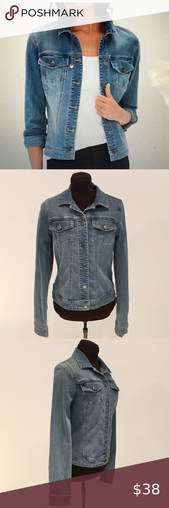 The Limited classic blue jeans jacket small Beautiful jeans jacket Medium blue Stretch for comfort M