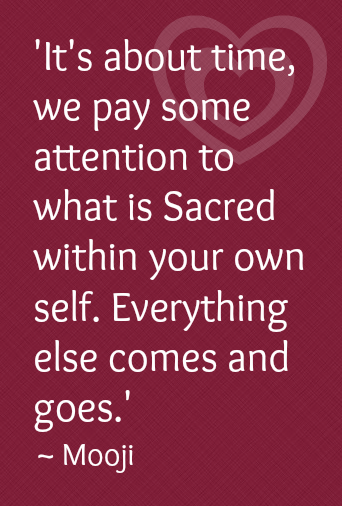 It s about time we Pay some Attention to what is Sacred