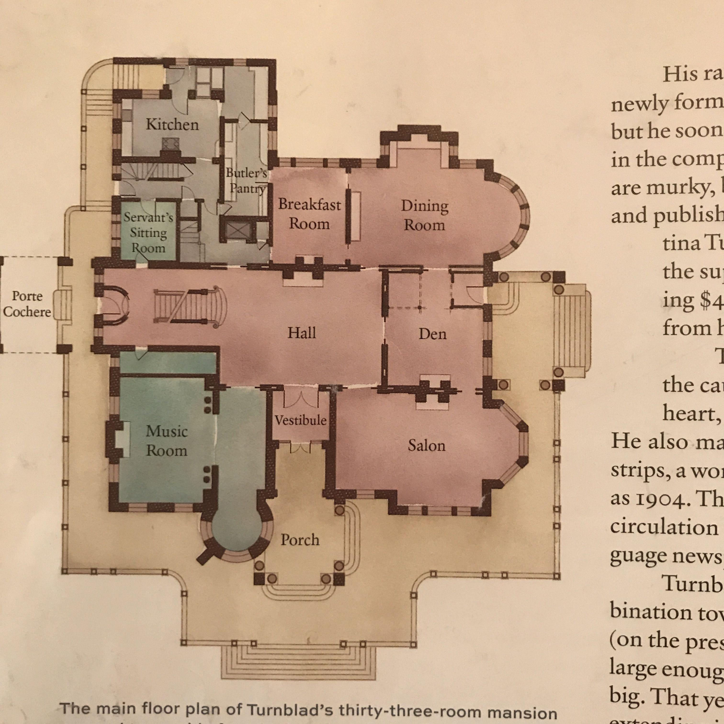 Luxury Homes In Minnesota: Turnblad Mansion - 1st Floor; Minneapolis, MN