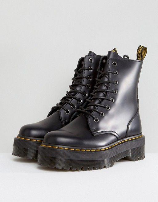 71ab6cf80c88e6 Dr Martens Jadon Flatform Chunky Boots in 2019
