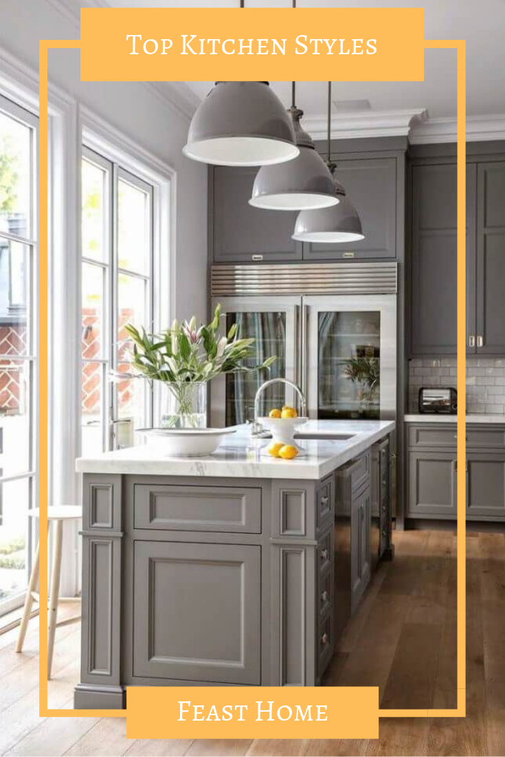 Top Kitchen Styles That You Can Never Go Wrong With Farmhouse Kitchen Cabinets Kitchen Interior Kitchen Cabinet Design