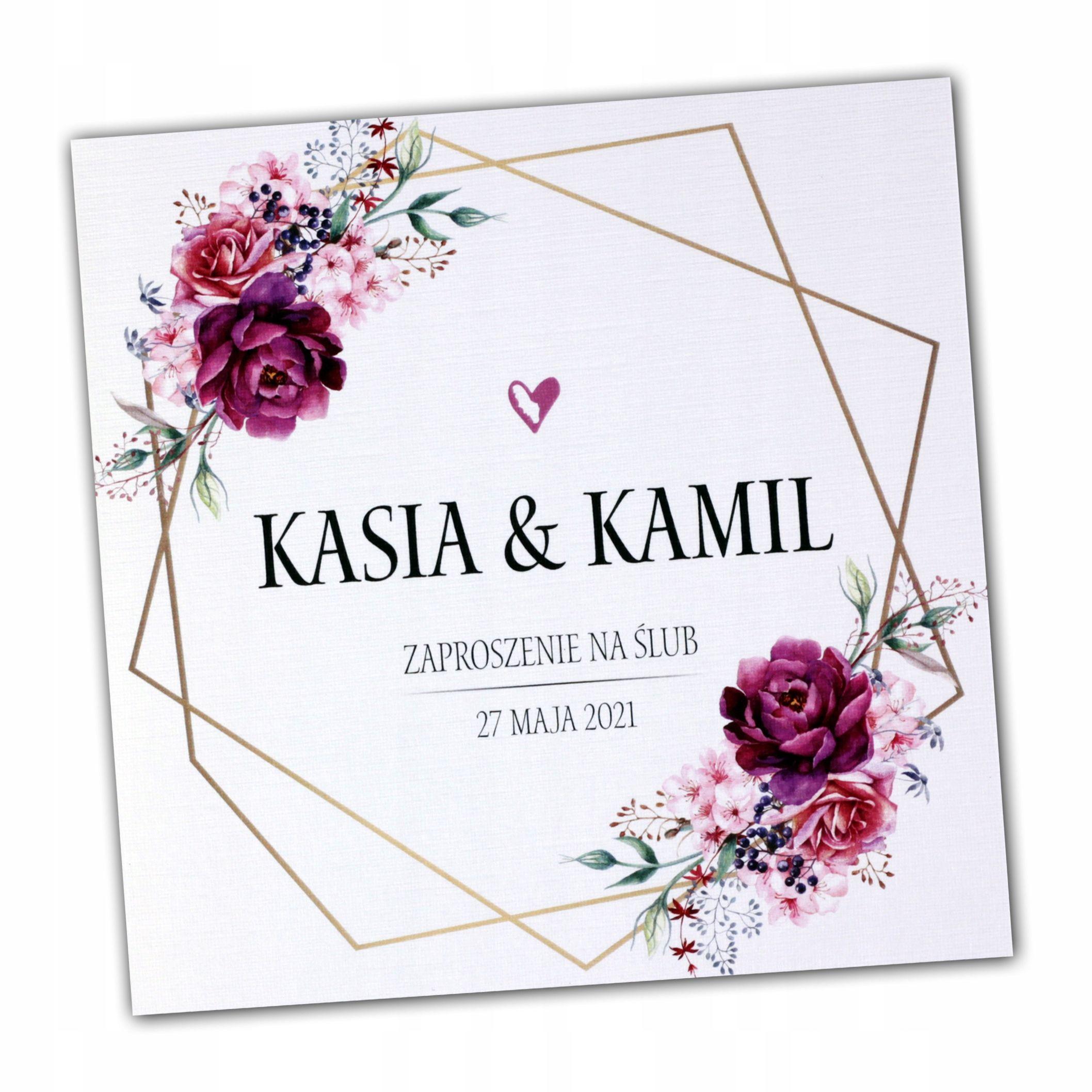 Zaproszenia Slubne Rustykalne Kwiatowe Boho Nowosc 7652760463 Oficjalne Archiwum Allegro Wedding Cards Diy Wedding Wedding Invitations