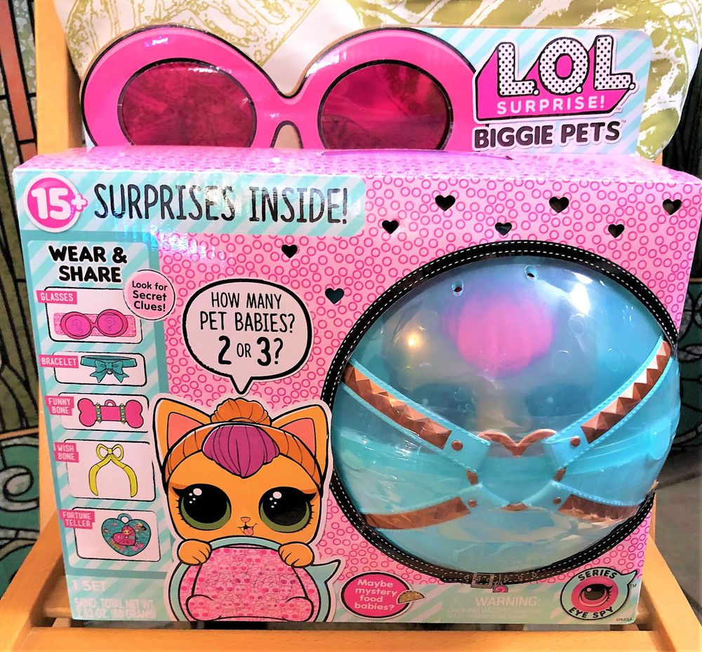New Lol Surprise Biggie Pets Neon Kitty L O L Eye Spy Series Cat