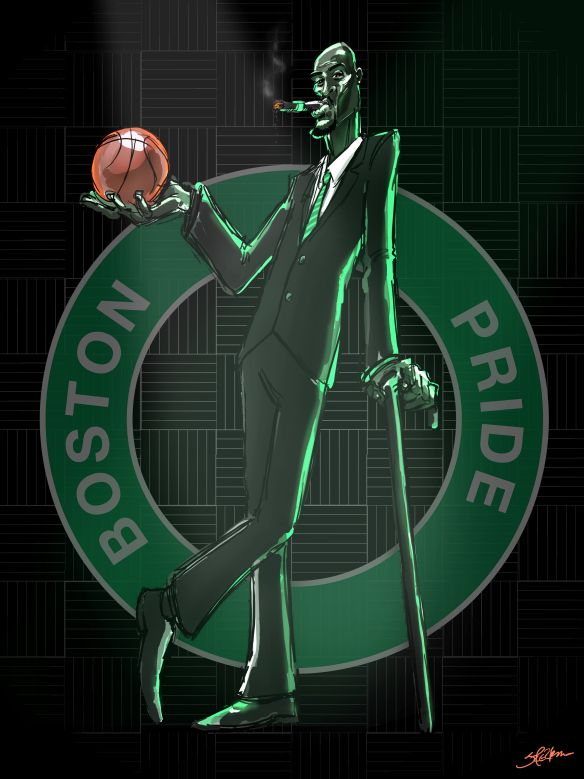KG | Kevin garnett, Boston celtics logo, Basketball art