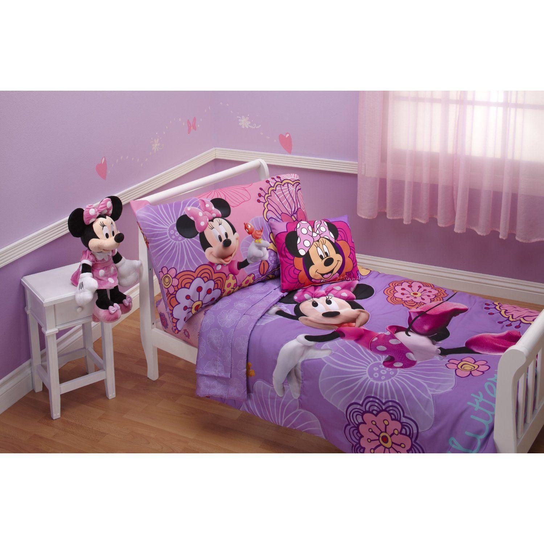 Amazon Com Disney 4 Piece Minnie S Fluttery Friends Set Lavender