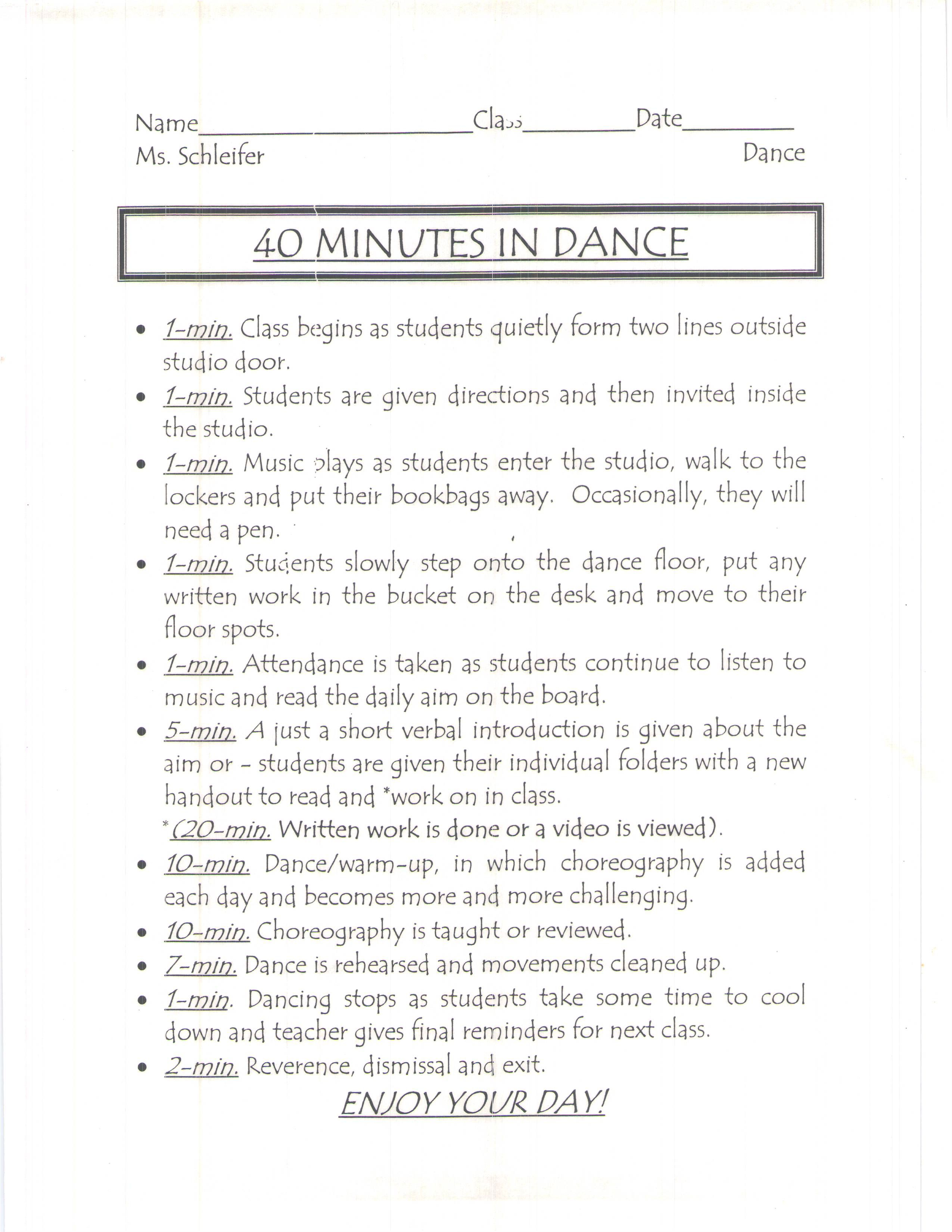 40 Minutes In Dance
