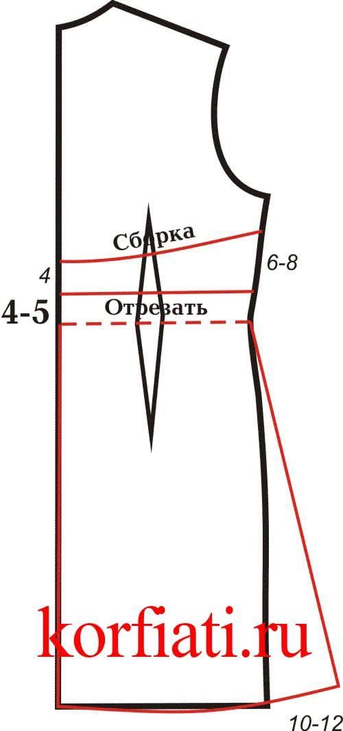 83075414c14 Моделирование выкройки трикотажного платья спинка