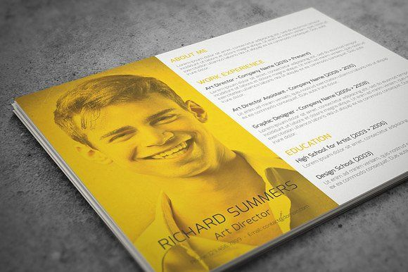 Landscape Resume Template Resume cv, Letterhead and Business cards - landscape resume