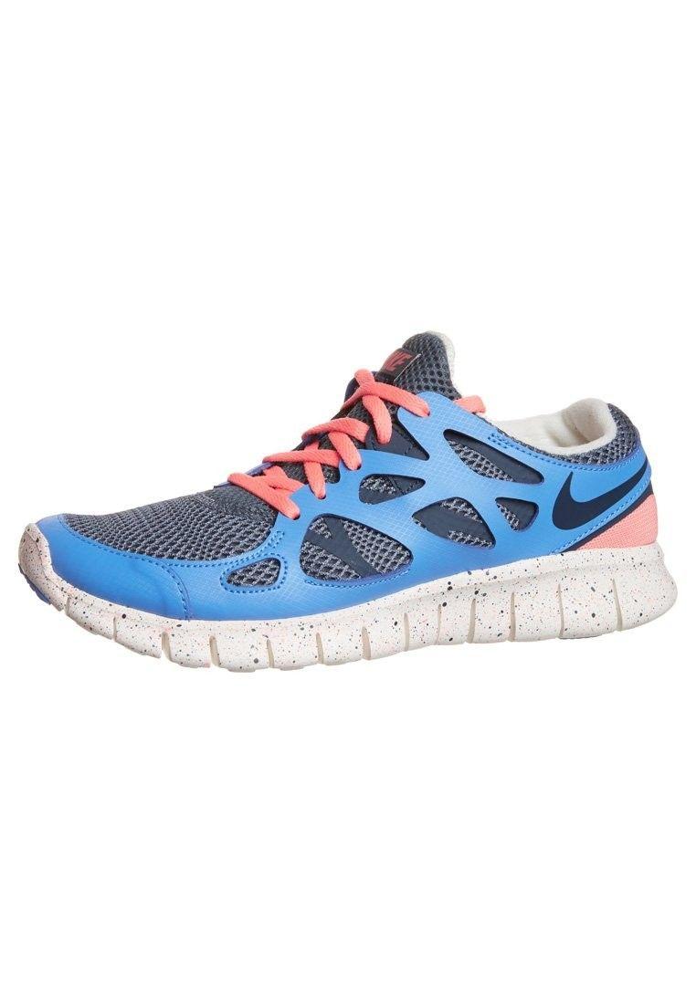 J4i7o Nike Free Run 2 Grey Dark Blue Woman Shoes Samon - Footwear HOT SALE!
