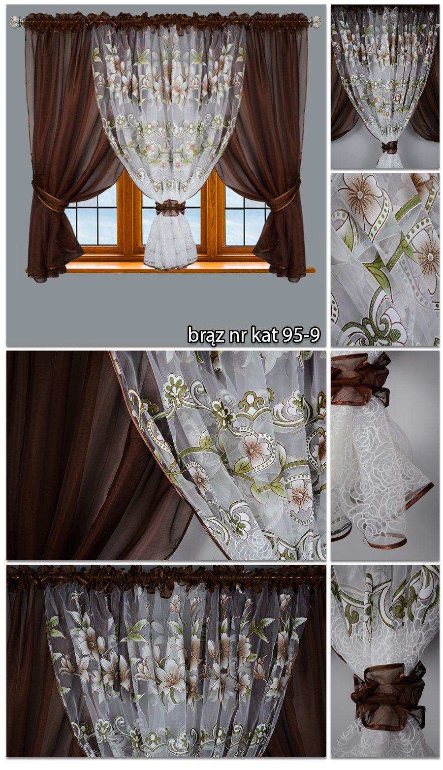 Firana Gotowa Woal W Kwiaty 500x150 Firany Zaslony 7147020384 Allegro Pl Wiecej Niz Aukcje Home Decor Curtains Valance Curtains