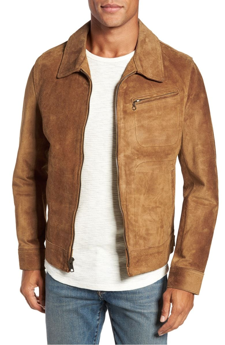 b468b1da2a8 Unlined Rough Out Oiled Cowhide Trucker Jacket