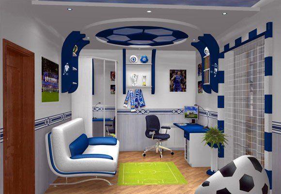Decoraci n de dormitorios tem tica f tbol by artesydisenos for Decoracion de interiores recamaras para ninos