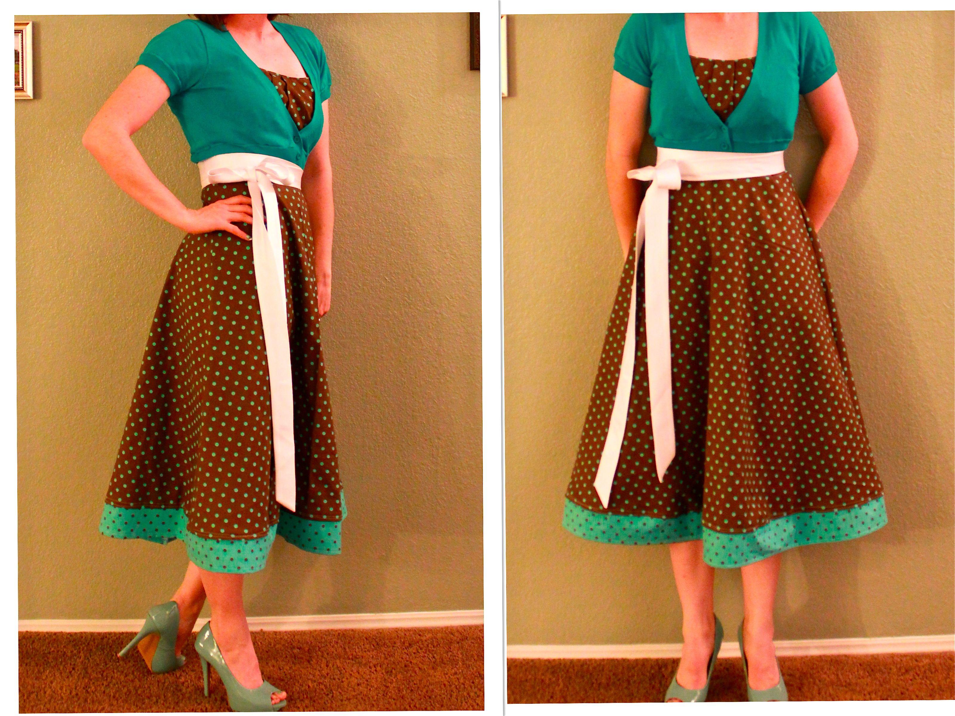 White half apron walmart - Dress I Made New Look Pattern 6966 Found At Walmart