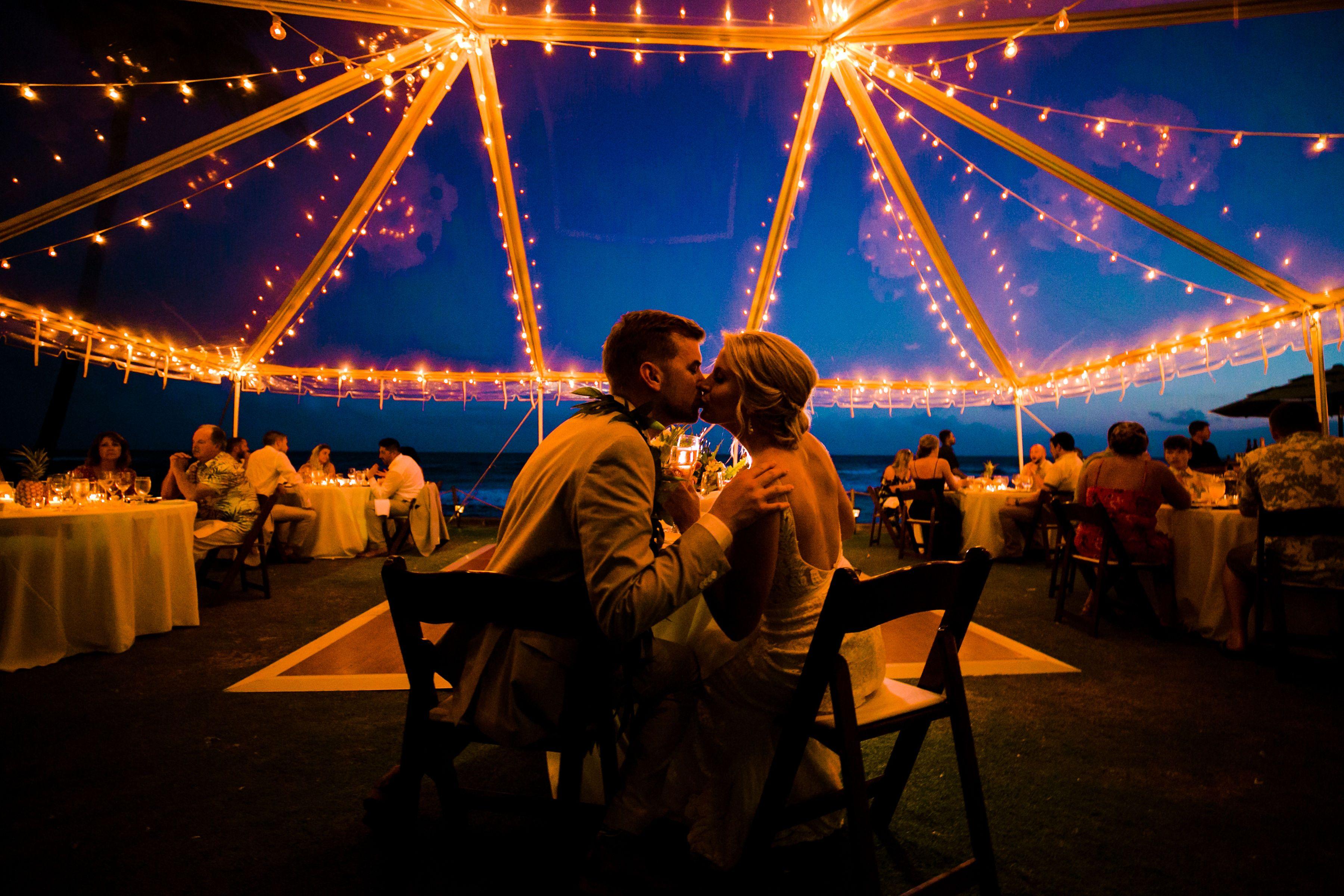 Clear Tent 40 Guests Destination Hawaii Wedding Dj Dance