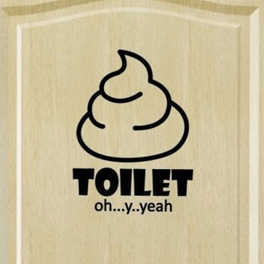Toilet Seat Funny Bathroom Wall Sticker Vinyl Decal Mural Removable ...