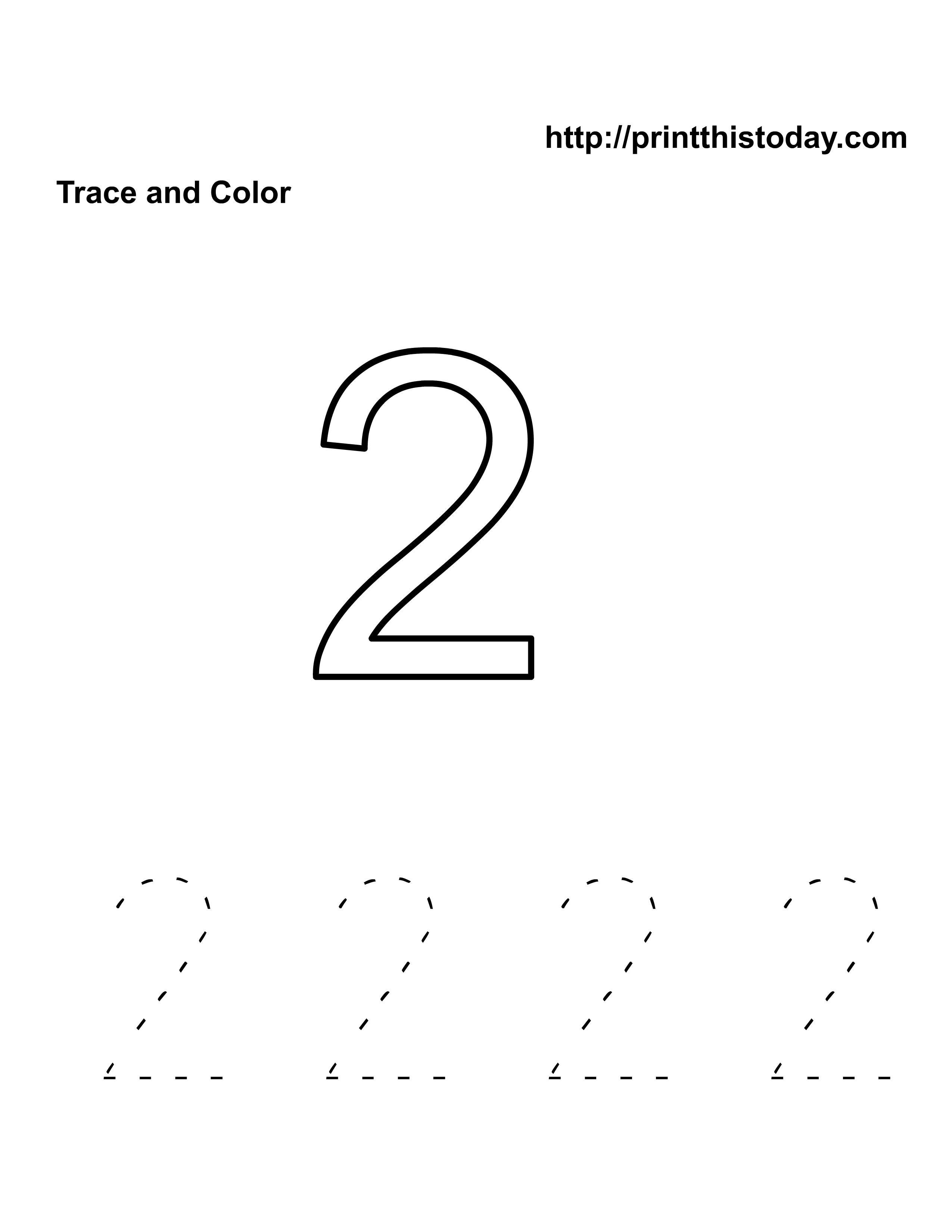 Tracing Coloring Pages