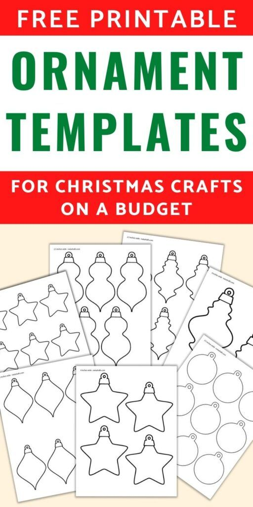 13+ Free Printable Christmas Ornament Templates -   19 diy christmas decorations for kids paper ideas