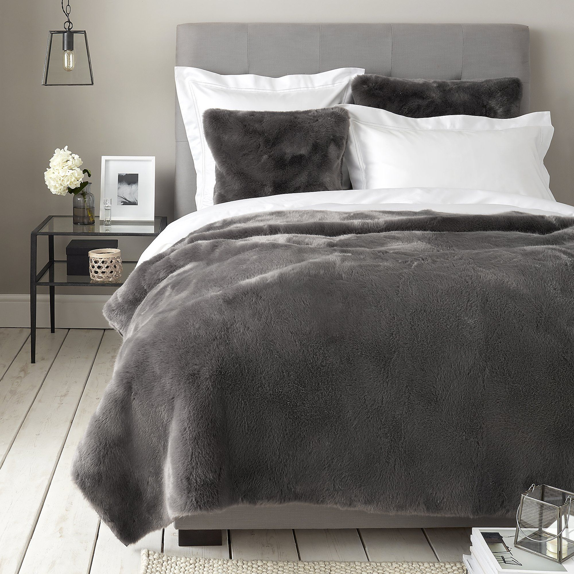 products bed brown wolf decor bedding com decorative lush luca throw faux fur lushdecor pillow