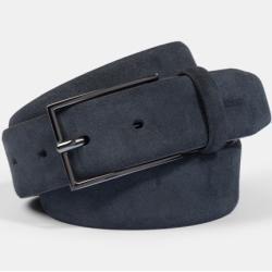 Veloursleder-Gürtel, dunkelblau Strellson