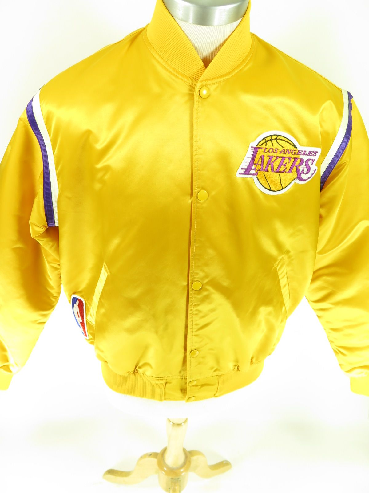 Vintage 80s Las Angeles Lakers Starter Satin Jacket Men S Xl Find More Men S And Women S Authentic Vintage Clothing At The Cl Nba Jacket Satin Jackets Jackets