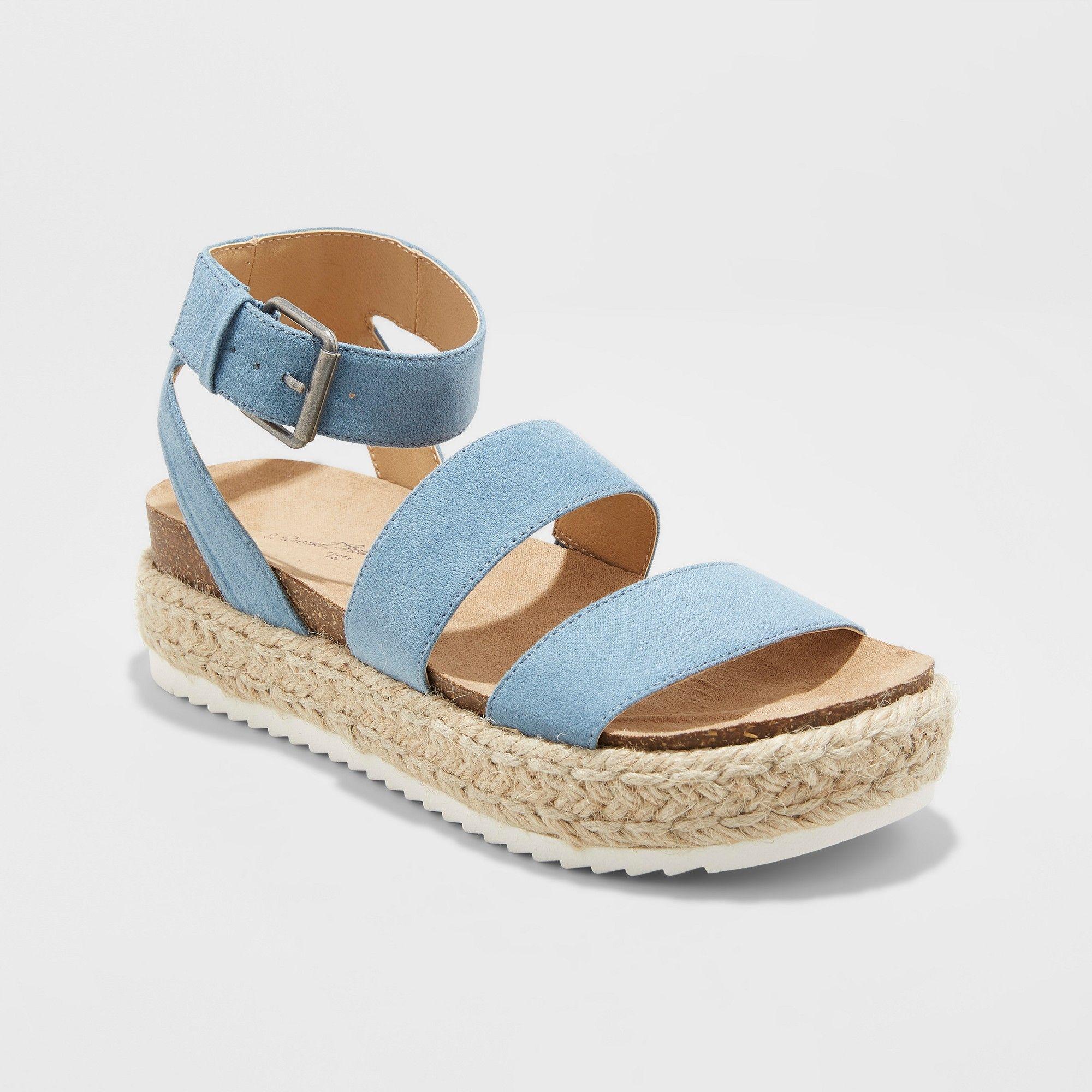 1102b4769a1f Women s Agnes Quarter Strap Espadrille Sandals - Universal Thread Yellow  9.5