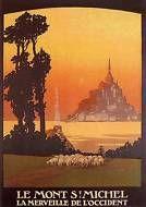 Mont St Michel France 1925 Normandy Vintage Poster Print Castle Island