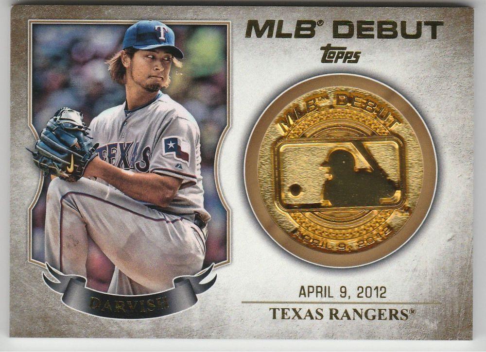 2016 Topps Series 1 #MDM-YD Yu Darvish MLB Debut Medallion Coin #TexasRangers